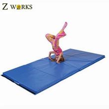 Blue Make-To-Order Folding Gym Mat Exercise Folding Foam Mat