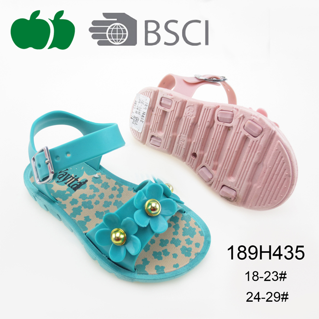 Cheap Fashion Fancy Trendy Flower Girls Sandals