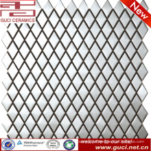 Parallel to the square stainless steel mosaic tile for wall design