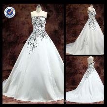 Atacado China fábrica bordado A linha de trem de varredura vestido de noiva vestido de casamento vestido de noiva 2016