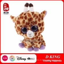 Big Eyes Plush Giraffe Stuffed Animal De Brinquedo