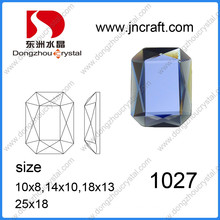 Dz-1027 Machine Cut Mirror Octagon Glass Beads for Garment