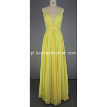 Vestidos de Chiffon amarelo Prom Dress Red Carpet