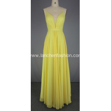 Yellow Chiffon Prom Dress Red Carpet Dresses
