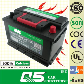 DIN-55415 12V54AH mehr Komfort Batterie für wartungsfreie Autobatterie
