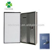 book shape metal coin bank