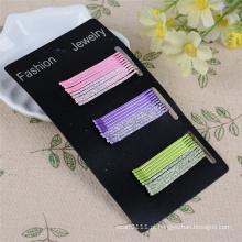 30 peças de cartão embalado 5 centímetros de metal brilhantes pinos de cabelo (je1028)