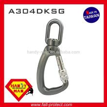 A304DKSG Giratório de alumínio 25kN Indicador de carga Snap Screw Lock Hook