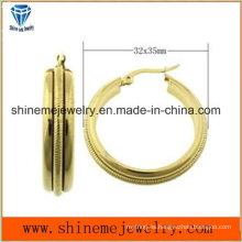 Shineme joyería de alta calidad mejor precio de acero inoxidable chapado oro pendiente Ers6935