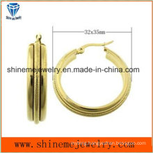 Shineme Jewelry High Quality Best Price Stainless Steel Plating Gold Earring  Ers6935