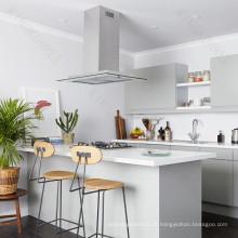 Benchtops da cozinha do projeto simples & contador da barra