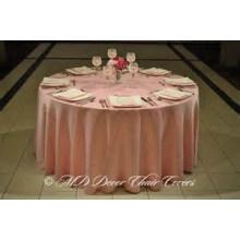 Дешевые и высокого качества равнина стиле крышка стола атласная ткань / оверлея для свадьбы banquet отель