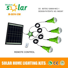 Portables mini kits luz solares para la iluminación casera, iluminación interior mini kits con CE
