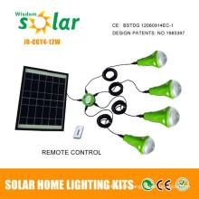 Portable mini solar light kits for home lighting, mini indoor lighting kits with CE