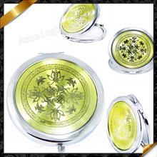 Зеркала с двойным стеклом, покрытые сплавом, элегантное зеркало для макияжа (MW014)