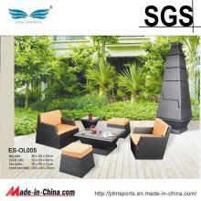 Outdoor London Wicker Rattan Furniture Sofa Set (ES-OL005)