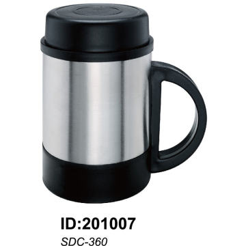 Non-Vacuum Cup 18/8stainless Steel Doubled Wall Mug Sdc-360