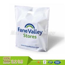El logotipo de encargo barato de encargo de la fábrica de Guangzhou imprimió el bolso de compras cortado con tintas plástico sellado fuerte de calor