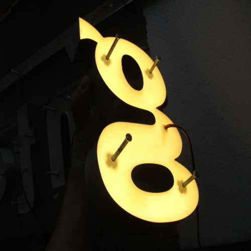 Halo Lit LED Electronic Letter Signs
