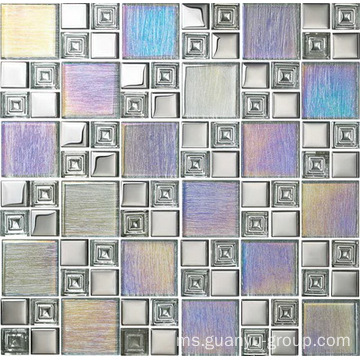 Rainbow Color 6mm Thickness Glass Mosaic