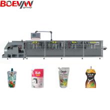Máquina de embalagem de sucos Hffs com bico horizontal Doypack