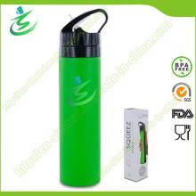 600 ml de bouteille d'eau pliable et pliable, sans silicone et sans plomb BPA, bouteille d'eau sportive, bouteille d'eau douce