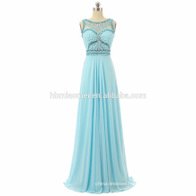 Women sleeveless Evening long dress 2017 floor length heavy beaded prom dress graduation wholesale