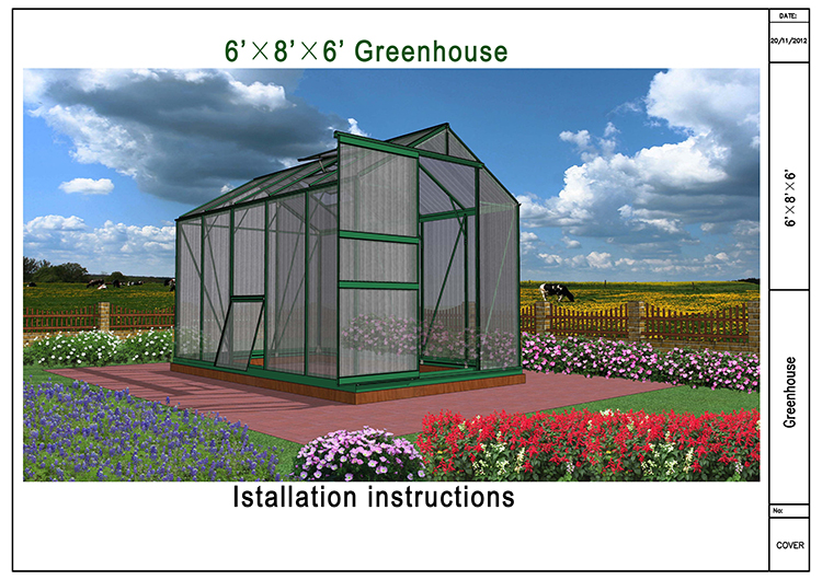 6×8×6 pc garden greenhouse