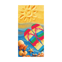 Microfiber Blue Flip Flops Design Beach Bath Towels