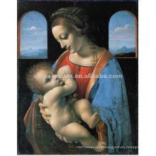 Home Decor Mutter Liebe Porträt Malerei Auf Leinwand