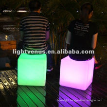 PE material, Colorful Emotion Creating LED Cube Chair