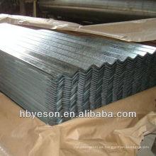 Chapa de acero corrugado de acero galvanizado en caliente
