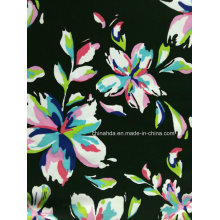 Black Flower Printing Fabric for Swimwear (HD1401023)