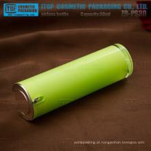 Alta e suave de quente-vendedor de 30 ml de ZB-PS30 brilho 1oz redondo acrílico airless bomba garrafa