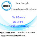 Shenzhen Port Sea Freight Shipping To Brisbane