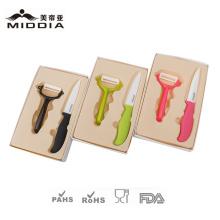 Ceramic Fruit Knife Set mit Geschenkbox Verpackung für Küchengerät