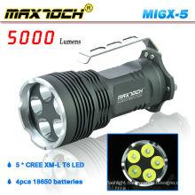 Maxtoch MI6X-5 XML T6 5000 Lumen Handle 5*Cree LED Flashlight Hunting