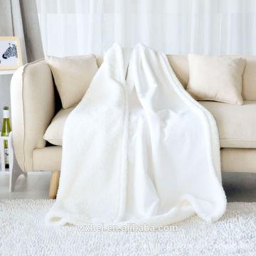 100% algodão 300gsm cobertor de tamanho completo branco para uso do bebê