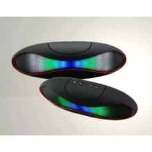 LED Dazzle Light Rugby Shape Stereo Bluetooth Pill Speaker (BK1015)