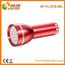 Fabrik-Versorgungsmaterial 4.5V Soem-rote Aluminium-fördernde 28 LED-Fackel-Taschenlampe mit 3 * AAA trockener Batterie