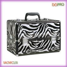 Chaude valise de grand volume de modèle de zèbre pour le maquillage professionnel (SACMC135)