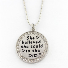 Cheap Custom Sterling Silver Pendant Necklace Fashion Jewelry