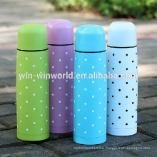 Promotional Colorful Double Wall Stainless Steel Thermos Vacuum Flask With Cup Lid