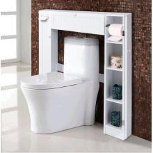 White Slim Recessed Bathroom Storage Cabinet