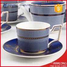 Líneas Azules Juegos de té y café / Juego de café y té árabe / Splendid Tea Set de café