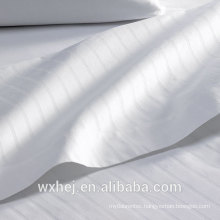 WhIte 100% cotton 1cm Stripe BedSheet Fabrics for Wholesale