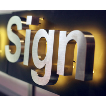 Light Business Letter Signs med lampor för Office Door