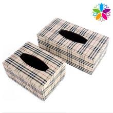 European Style Leather Tissue Box (ZJH065)