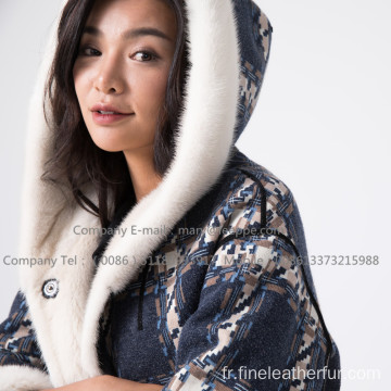 Kopenhagen Winter Velvet Coat Coat Pour Lady