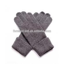 2014 hotsale fashion high quality brown color men cashmere glove